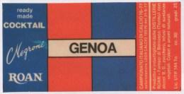 """0726 """"A. S. D. GENOVA CALCIO - DISTILLERIE ROAN - BEINASCO (TO)"""" ETICHETTA ORIGINALE. - Calcio"""