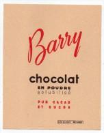 Buvard - Chocolat En Poudre Barry - Cocoa & Chocolat