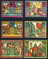 Deutschland Notgeld Erfurt Stadt 10 + 20 + 50 Pfennig 6  Stellig 9.4.1921 Erhaltung  I - II - Lokale Ausgaben