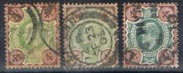 Tres Sellos Edward VII, 4 D Gran Bretaña, Variedad Color Num 112 -112a- 112b º - 1902-1951 (Re)