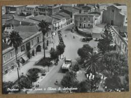 ORISTANO -PIAZZA ROMA  E CHIESA  S.SEBASTIANO  ANIMATA   -BELLA - Oristano