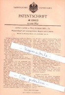 Original Patent  - Otto Ganss In Waltershausen I. Th. , 1901 , Puppenkopf Mit Beweglichen Augen , Puppen , Puppe !!! - Puppen