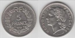 **** 5 FRANCS 1938 LAVRILLIER NICKEL **** EN ACHAT IMMEDIAT !!! - France