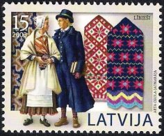Latvia Lettland Lettonie 2003 (12) Mittens Of Latvia - Liv - National Winter Costumes - Latvia