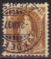 Suisse N° 80 Oblitération Chaux De Fonds 2 XII 1897 - 1882-1906 Stemmi, Helvetia Verticalmente & UPU