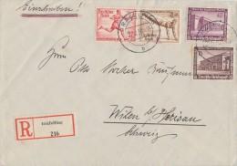 DR R-Brief Mif Minr.640,642,Zdr. Minr.W109 Gräfelfing 29.12.36 Gel. In Schweiz - Deutschland