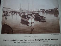 - Article De Presse - Régionalisme - Alger - Bougie - Cap Carbon - Tunis -1935 - 2 Pages - - Documents Historiques