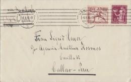 DR Brief Mif Minr.614,623 Hamburg 5.8.38 Gel. Nach Peru - Allemagne