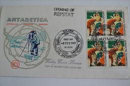 Australia Antarctic Wilkes Station 8/2/1969 Opening Of Repstat - Poststempel