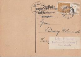 DR Karte EF Minr.410 OR Walze Berlin 7.2.30 - Deutschland