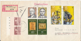 Germany DDR Registered Cover With More Topic Stamps Leipzig 21-10-1981 - [6] Democratic Republic