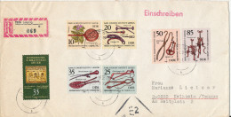 Germany DDR Registered Cover With Complete Set Old Medical Instruments Leipzig 21-10-1981 - [6] Democratic Republic