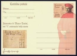 """2010 ITALIA REPUBBLICA """"FRANCESCO DATINI"""" CARTOLINA POSTALE - 6. 1946-.. Repubblica"""