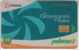 EL SALVADOR -  Telecom Logo(blue), Transparent Telecard, Used - El Salvador