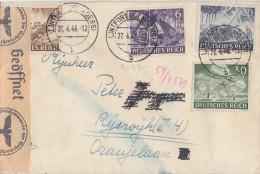 DR Brief Mif Minr.832,834,838,840 Lintfort 27.4.43 Gel. Nach Holland Zensur - Briefe U. Dokumente