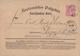 NDP Karte Großes Format EF Minr.16 Wiedenbrück 28.11.71 Gel. Nach Wermelskirchen - Norddeutscher Postbezirk