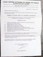 LIGUE  CONTRE LA FUMEE DU TABAC EN PUBLIC,LE DROITS DES NON-FUMEURS - Documents