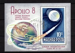 Hungary 1969 Space Apollo 8, S/s CTO - Space