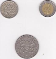 3 Münzen Von Kenia, 50 Cents, 1967, 1, 5 Shillings, 1974, 1997 - Kenia