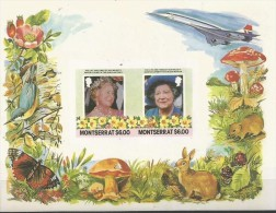 Montserrat 564 Queen Mother Birthday IMPERFORATE Missing The 85th Birthday Of *** Queen Mother Block MNH 1985 A04s - Montserrat