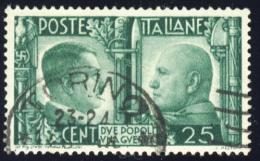 Fratellanza D´Armi Italo Tedesca - 1941 -  25 Cent. Verde (Sassone 454) - 1900-44 Vittorio Emanuele III