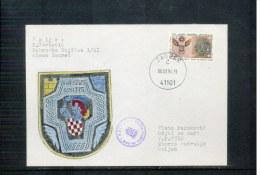 Croatia / Kroatien 1994 Military Letter Hand Painted Scarce - Kroatië
