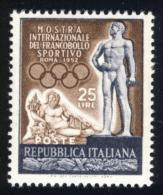 Francobollo Sportivo - 1952 - 25 Lire Bruno E Grigio Violetto (Sassone 684MG) MNH** - 6. 1946-.. Republic