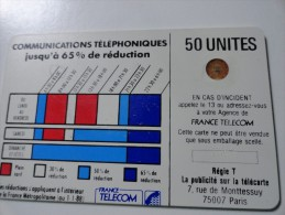 RARE : DECALAGE ET 8H0C SUR CORDONS BLANC SC4OB 50U  NR 9261 - Frankrijk
