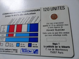 RARE : CORDONS BLANC TÉLÉCARTE 120U SC4OB NR 9810055 - France