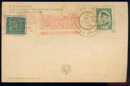 BL5-246 TSJECHOSSLOVAKIA 1935 POSTCARD 80th ANNI TG MASARYK. CANCELLATION PRAHA 10. HORSE, CHEVAL, PFERD, PAARD. - Postwaardestukken