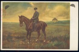 BL5-248 TSJECHOSSLOVAKIA 1935 POSTCARD 80th ANNI TG MASARYK. CANCELLATION PRAHA 10. HORSE, CHEVAL, PFERD, PAARD - Postwaardestukken