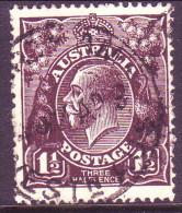 Australia 1918 SG #58 1½d VF Used - 1913-36 George V : Heads