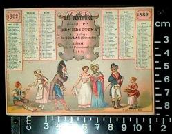 CHROMO DEMI CALENDRIER 1882 élixir Dentifrice RR PP Bénédictins Abbaye De Soulac Dentiste Zahnarzt COURBE ROUZET Directo - Petit Format : ...-1900