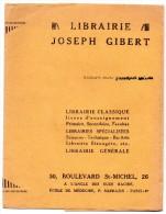 Protège Cahier - Joseph Gibert - La Plus Importante Librairie De Détail De Paris - Protège-cahiers