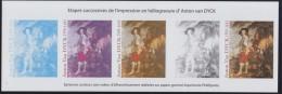 """Anton Van Dyck Etapes Successives Impression 3289 Héliogravure """"Détail Portrait De Charles à La Chasse"""" Bloc Gommé Neuf - Blocs & Feuillets"""