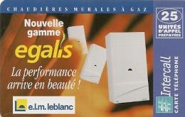 CARTE-PREPAYEE-INTERCALL-25U-ELM LEBLANC-PLA STIC GLACE-30/05/1998-TBE     - - Autres Prépayées