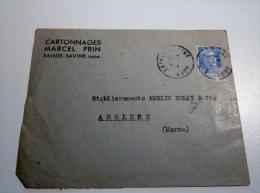 Lettre Pour Anglure Marne Des Cartonnages Marcel Brin Sainte Savine Aube - 1961-....