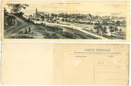 Grande  CPA  PANORAMIQUE Arbois Jura 39 GRAVURE XVIII éme En Franche Comté - Arbois