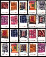 Etats-Unis / United States (Scott No.4089-98 - Edredon / Quilt) (o) Toute Position / All Positions - Oblitérés
