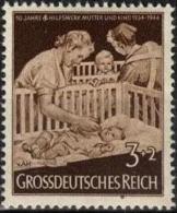 ALLEMAGNE DEUTSCHES III REICH 786 ** MNH Secours Des Mères Mutter Mother - Secourisme