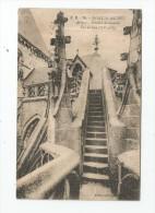 Cp , 50 , LE MONT SAINT MICHEL , Abbaye , Escalier De Dentelle , Vue De Face , Voyagée 1924 - Le Mont Saint Michel