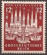 ALLEMAGNE DEUTSCHES III REICH 781 ** MNH 800 Ans Jahre Stadt LUBECK - Germany