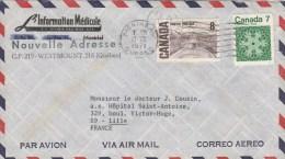 CANADA LETTRE AVION MONTREAL 17/12/1971 POUR LILLE FRANCE - Briefe U. Dokumente