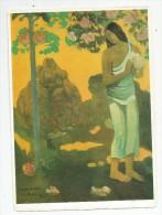 Image , 22 X 16, Peinture , GAUGUIN , Femme Tahitienne Avec Bouquet ,2 Scans , Fiche Descriptive, Frais Fr : 1.90€ - Fiches Illustrées