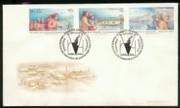 093/ Lettre 1er Jour Triptyque Antartica Chilena Exploradoras, Colonizacion, Scouts 18 06 84 FDC - Chile