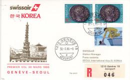Genève Seoul 1986 - Swissair Korea Corée Corea - Erstflug First Flight 1er Vol - - Switzerland