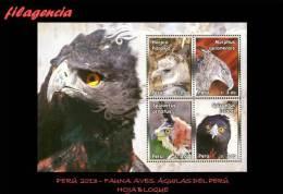 AMERICA. PERÚ MINT. 2013 FAUNA. AVES. ÁGUILAS DEL PERÚ. HOJA BLOQUE - Peru