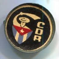 CDR Cuba, vintage pin, badge