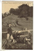 CPA MILITAIRE MANOEUVRE MATERIELS - Artillerie Alpine à Beaufort (Savoie) Environs D'Albertville - Manoeuvres