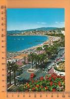CPM, CANNES: La Croisette Et Le Suquet Vus Du Carlton - Cannes